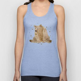 bear grizzly  Unisex Tank Top