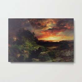 Sunset at the Grand Canyon landscape painting by Thomas Moran Metal Print