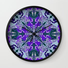 Abstract Purple and Blue Marble Wall Clock