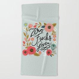 Pretty Swe*ry: Zero Fs given Beach Towel