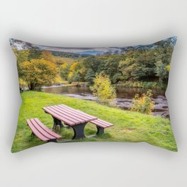 Snowdonia River Autumn Rectangular Pillow