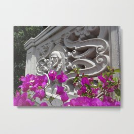 Hearst castle bougainvillea Metal Print