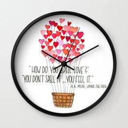 Love - Winnie-the-Pooh Wall Clock