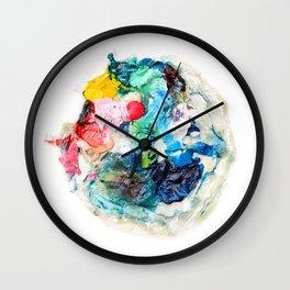 Rainbow Earth Paint Moon Love Wall Clock