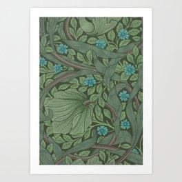 William Morris Art Nouveau Forget Me Not Floral Art Print