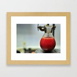 Red flask Framed Art Print