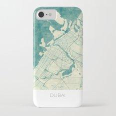Dubai Map Blue Vintage iPhone 7 Slim Case