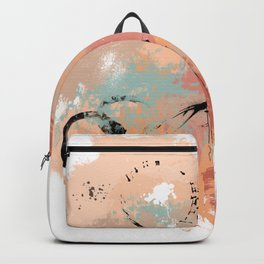 Unrestrained, Abstract Art Brushstrokes Backpack