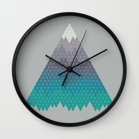 geology Wall Clocks featuring Many Mountains by Rick Crane