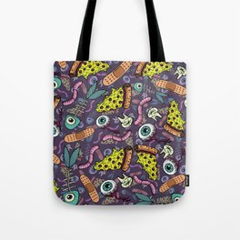 Eyeballs & Pizza Tote Bag