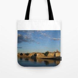 Sunset on the Rhône River (Arles, France) Tote Bag