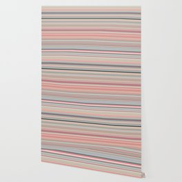 Pink Peach Pastel Stripe Design Wallpaper