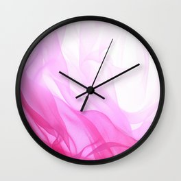 Pink Tulle Wall Clock