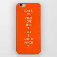 scott pilgrim iPhone & iPod Skins featuring Scott Pilgrim vs. The World - Kim by MacGuffin Designs
