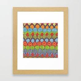 bright scalloped pattern 2 Framed Art Print