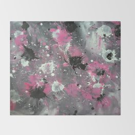 Pink Splash Throw Blanket