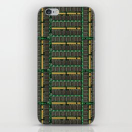 Computer memory modules background iPhone Skin