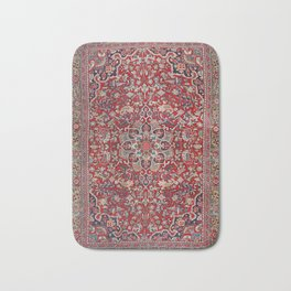Fine Persia Bijar Old Century Authentic Colorful Red Blue Yellow Vintage Patterns Bath Mat