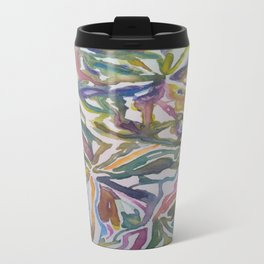 Abstract Flowers Watercolor Painting Travel Mug