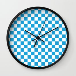 Oktoberfest Bavarian Large Blue and White Checkerboard Wall Clock