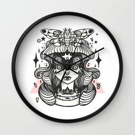 Girl With Death Head Moth Wall Clock