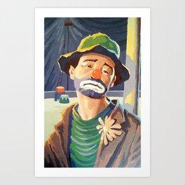 (Very) Sad Clown Art Print
