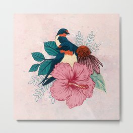 Barn Swallows Metal Print