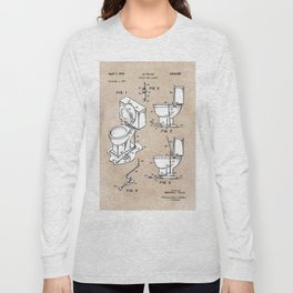 patent art Fields Toilet seat lifter 1967 Long Sleeve T-shirt