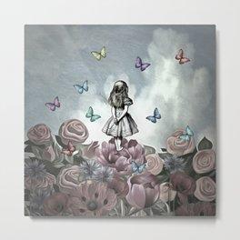 Alice In Wonderland Magical Garden Metal Print
