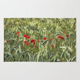 Cornfield Poppy Landscape Rug