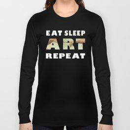 Eat Sleep Art Repeat Michelangelo Long Sleeve T-shirt