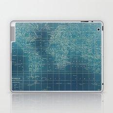 Grunge World Map Laptop & iPad Skin