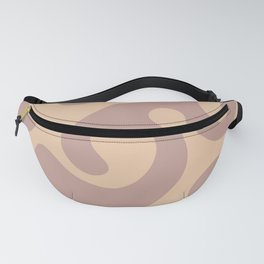 Octopus in the Waves - Orange cream Fanny Pack