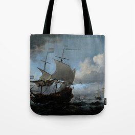 "Willem van de Velde ""The Dutch Fleet Assembling"" Tote Bag"