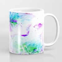 jenna kutcher Mugs featuring Floral 02 by Aloke Design