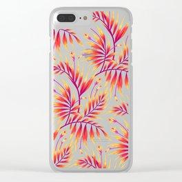 Waikiki Palm - Orange Clear iPhone Case
