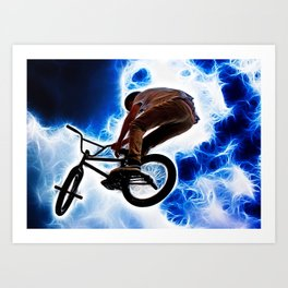 Electric Bike Art Print