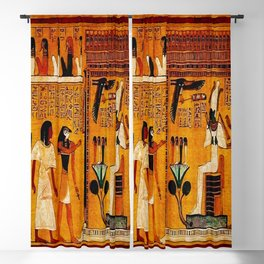 Book of the Dead - Last Judgement of Hu-Nefer - Thebes - Egypt - ca. 1290-1280 BCE - New Kingdom - Dynasty XIX - Ancient Egyptian Text with Spells, Prayers, and Incantations - Amazing Oil painting - Blackout Curtain