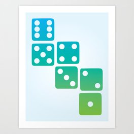 Dice Art Print