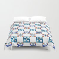 pen Duvet Covers featuring Pen & Ink by Horn & Ivory
