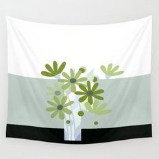 modern flowers in vase Wall Tapestry