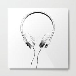 Music Alien Metal Print