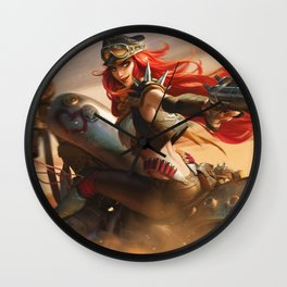 Road Warrior Miss Fortune League Of Legends Wall Clock