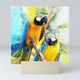 Macaw friends Mini Art Print