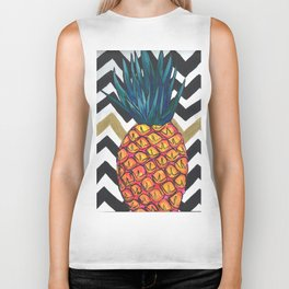 Pineapple Chevron Biker Tank