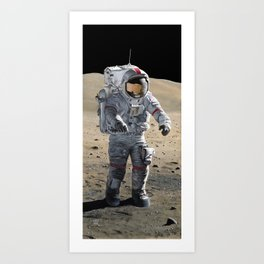 The Last Man on the Moon Art Print
