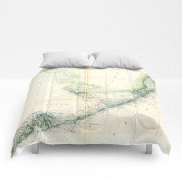 Vintage Map of The Florida Keys (1859) Comforters