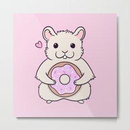 Donut Hamster Metal Print