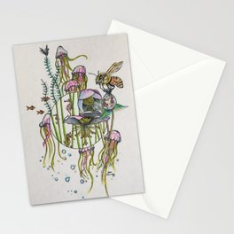 Hellebores and Jellyfish Stationery Cards