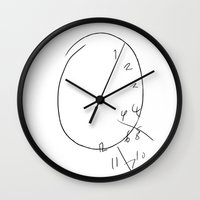 will graham Wall Clocks featuring Will Graham - The Clock by River